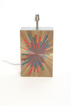 Straw Marquetry Lamp from our new Straw Marquetry Collection
