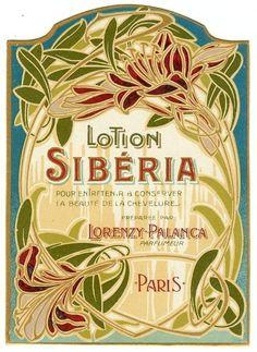 Vintage French Art Nouveau label