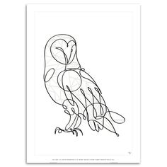 Barn Owl certified art print by Antoine Tesquier Tedeschi for Hu2 Design wall art and design poster series