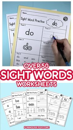 Crafts and Coloring Page: Fun Learning sight words for kids. Over 50 words for reading, writing, clapping tracing and color. Kindergarten Readiness, Teaching Phonics, Homeschool Kindergarten, Preschool Learning Activities, Teaching Reading, Fun Learning, Learn To Read Kindergarten, Kindergarten Morning Work, Learning To Write