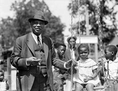 """W.C. Handy of New York was back on Beale Street in Memphis, Tenn. on May 14, 1936 where his Blues began. The composer of """"St. Louis Blues"""" and """"Memphis Blues"""" visited the bar at """"P-Wee's"""" and the street's Church Park to play with the children."""
