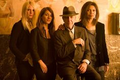 LC and his Angels!The Webb Sisters, Hattie and Dawn, Leonard Cohen, and Sharon Robinson. ( thanks, Sharon R. for foto!)