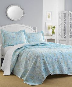 Another great find on #zulily! Blue Fish Frolic Quilt Set #zulilyfinds