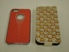 iPhone 5/5S phone case holiday sale 2 for $24 - Leather Bling red/gold