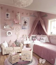 Here are inspirations for baby girl room ideas, create the perfect one for your little princess room. Baby Bedroom, Baby Room Decor, Nursery Room, Girl Nursery, Baby Girl Bedroom Ideas, Bedroom Kids, Bedroom Themes, Bedroom Inspo, Canopy Bedroom