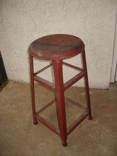 Vintage Rustic Metal Kitchen Stool by NostalgicHome on Etsy, $52.00