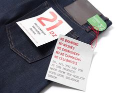 Unbranded 221 21. Oz Heavyweight Selvedge Denim. These things practically stood themselves up they are so stiff.