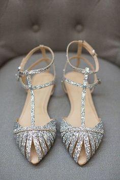 Put on the Glitz - The Prettiest Wedding Flats on Pinterest - Photos