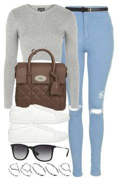 """Style #8951"" by vany-alvarado ❤ liked on Polyvore featuring Topshop, Barneys New York, Mulberry, Yves Saint Laurent, Ray-Ban and ASOS"