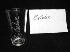 Cool Gifts for Men - Gifts for Him - Gifts for Boyfriend - Drinking Glass with Signature - Valentines Day Gift - Personalized Gifts - Unique. $12.00, via Etsy.
