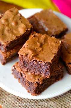Best-Ever Chewy Homemade Brownies - Layers of Happiness