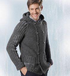 modele tricot veste capuche homme