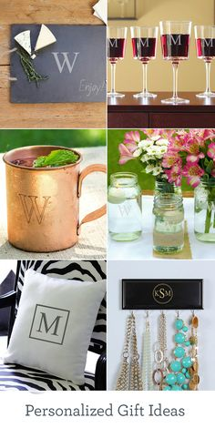 The bride & groom, the graduate, Mom, Dad ... they'll all feel extra special with a monogrammed or personalized gift from you. From wine glasses to pillows, find special gifts for all your special someones.
