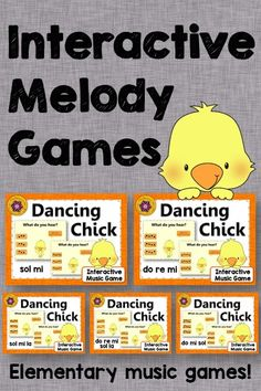 Melody Games! These interactive music games are perfect anytime but especially in the spring. Get ready for the dance moves to break out with your elementary music students!! Great music education resource for centers and subs!
