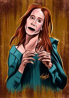 "Tonight's art is c. 2017 from the Days of Halloween"" sketch series: ZELDAAAA! Horror Films, Horror Art, Stephen King Movies, Pet Sematary, Sugar Skull Art, 31 Days Of Halloween, Art Blog, Disney Characters, Fictional Characters"