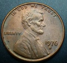 1976D Lincoln Cent Error Penny Filled D Error Coin