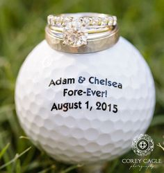 So cute! A golf ball wedding favor   Corey Cagle Photography