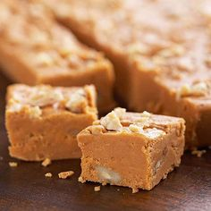 Much-loved #pumpkin takes on a new role in this irresistible #fudge. More pumpkin recipes: http://www.bhg.com/thanksgiving/recipes/luscious-pumpkin-desserts/?socsrc=bhgpin111412pumpkinfudge#page=14