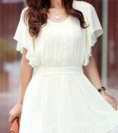 I would love a white dress.  I've been searching for a white dress that isn't see through since 2008.  I love the fabric and the way it nips in at the waist.