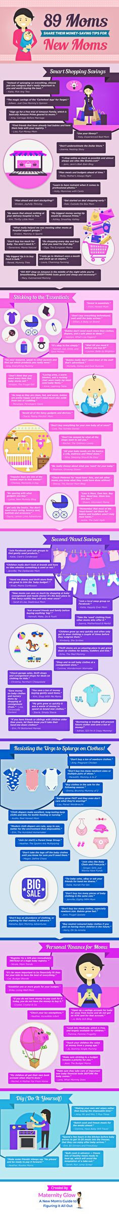 89 Moms Share Their Money-Saving Tips for New Moms (Infographic) | Maternity Glow