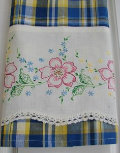 Recycled and Repourposed Vintage Pillowcase to by TwoGirlsLaughing