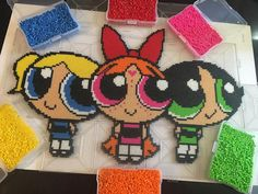 The Powerpuff Girls perler beads by nelso95