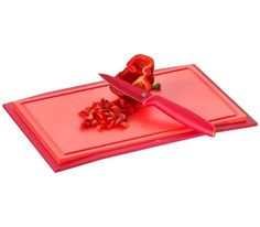 WMF - deska do krojenia Touch 32x20 cm, czerwona. profesjonalna deska kuchenna, kolorowa deska, kolorowa kuchnia, papryka