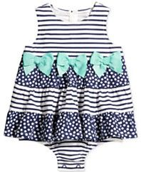 First Impressions Striped Tiered Skirted Sunsuit, Baby Girls (0-24 months), Only at Macy's