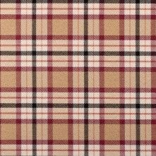 Beige Plaid Cotton Blend