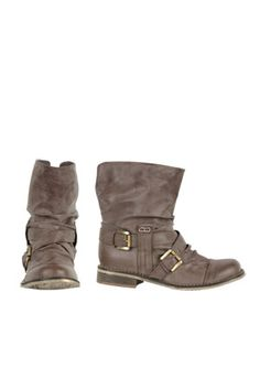 Want these so bad! Little motorcycle ankle boots. I want all three colors! But especially brown :)