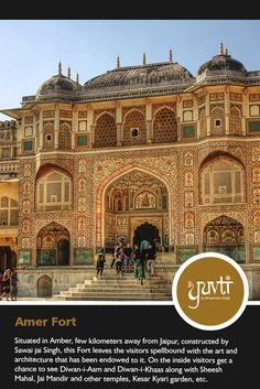Constructed of red sandstone and marble, the attractive, opulent Amer Fort, the principal tourist attraction in the Jaipur area. #PadhoroMareDes#monuments #richheritage #Rajasthan #touristattraction #amerfort