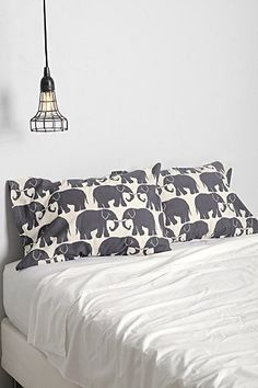 Magical Thinking Elephant Print Pillowcase - Set Of 2 - Urban Outfitters