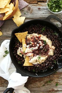 An incredibly simple, flavorful dip with plenty of protein and fiber from black beans. Topped with a raspberry chipotle jam for a sweet spicy finish. Perfect for games, parties and small gatherings.