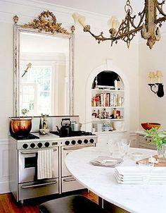 mirror kitchen