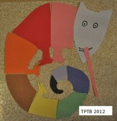 DIY Chameleon Puzzle for #preschool & #kindergarten #Literacy #EricCarle