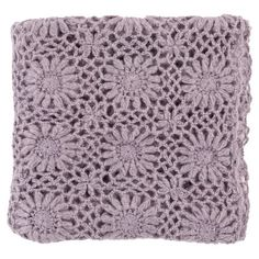 Add a pop of color to your living room sofa or favorite arm chair with this stylish throw, showcasing a classic crocheted design.    ...