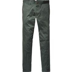 Scotch & Soda Super Slim Dress Pants - Mott ($125) ❤ liked on Polyvore featuring mens, men's clothing, men's pants, men's dress pants and bottle green