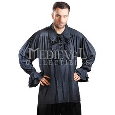 Plus Size Captain Charles Vane Pirate Shirt - DC1006-XXXL by Medieval Collectibles
