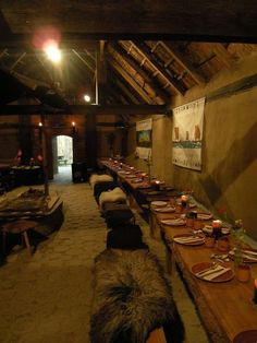 Viking medieval reception seating.
