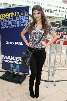 """Victoria Justice. Fall Teen Vogues """"Declare your Denim"""" fashion show during Mercedez-Benz Fashion Week."""