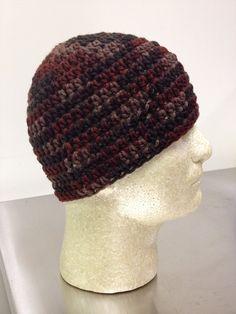 Autumn Camo  Crochet Beanie Skull Cap by just4tdyCrochet on Etsy
