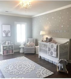 DIY nursery and also baby room decorating! Suggestions for you to develop a little paradise in the world for your little package. Lots of baby room decor suggestions! Baby Boy Rooms, Baby Bedroom, Baby Boy Nurseries, Baby Cribs, Baby Room Ideas For Girls, Room Baby, Baby Girl Bedroom Ideas, Baby Girl Nursery Pink And Grey, Country Baby Rooms