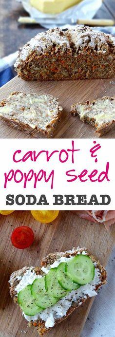Carrot & poppy seed spelt soda bread - moist, nutty and ready in an hour! | plusatesix.com