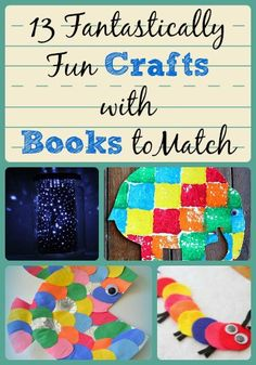 Guest Post: 13 Fantastically Fun Crafts with Books to Match 13 Funtastically Fun Crafts with Books to Match Guest Post on The Curriculum Corner from AllFreeKidsCrafts… Preschool Books, Preschool Crafts, Fun Crafts, Crafts For Kids, Kindergarten Art, Literacy Activities, Activities For Kids, Art And Craft Videos, 230