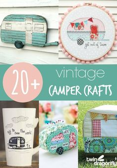 As the camping season comes to a close I thought that I would round up some of my favorite Vintage Camper Crafts to share with you.  I have this fantasy that one day I would remodel a little camper.  They are just far too adorable!  Then I remember that I grew up camping in tiny …