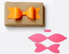 2 About Orange Noeud Papier Cadeau Noeud en Papier de Couleur pour Jolis Cadeaux à Faire (DIY)
