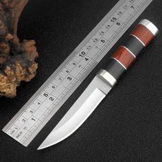 e7156596214 Mini Survival Hunting knife Fixed Knife 440 Blade Utility Camping Tactics  knife Outdoor Portable pocket knife Sharp EDC tool(China (Mainland))