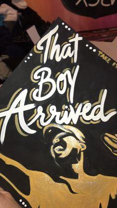 by @HobosArt Custom Graduation Caps, Graduation Cap Designs, Graduation Cap Decoration, Grad Cap, College Graduation, Cap Decorations, Cap And Gown, The Best Is Yet To Come, Graduation Pictures
