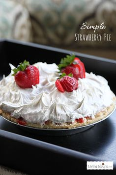 Simple Strawberry Pie recipe! LivingLocurto.com