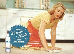 Vintage Stil Vodka Ad